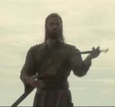 Wow! He's got sword (or baton?) skills! ~ Clive Standen - Vikings - Rollo