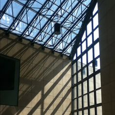 IU art museum. No right angles! #IU #campus #snazzy #light #indiana #windows #shadow #neat #bloomington