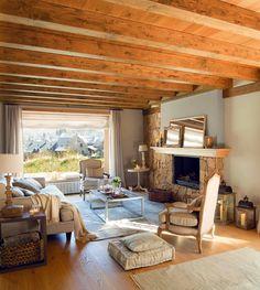 Minty Inspirations | wystrój wnętrz, dodatki i dekoracje do domu, zdjęcia, inspiracje: 15 salonów w stylu rustykalnym