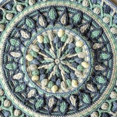 "A new release: Joana's Mandala crochet pattern. This mandala is made in overlay crochet and has a very nice and ""clear"" structure."
