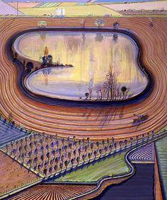 thiebaud wayne landscape | Wayne Thiebaud, Fields & Furrows couldnt believe my eyes when i first ...