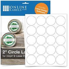 Round Labels - Pack of Circle Stickers, 100 Sheets - Inkjet/Laser Printer - Online Labels Circle Labels, Round Labels, Printable Labels, Printable Stickers, Free Printable, Label Software, Free Label Templates, Laser Labels, Online Labels