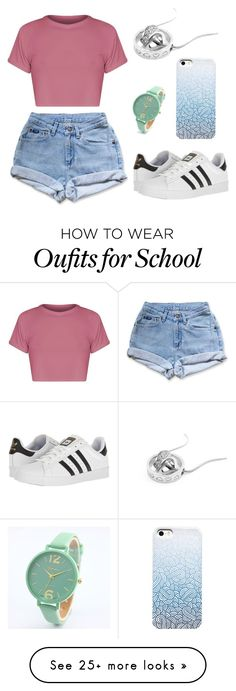 """""""Sem título #44"""" by mariaju25 on Polyvore featuring Levi's and adidas"""
