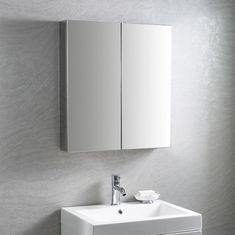 The Maxi mirrored cabinet is a contemporary rectangular bathroom cabinet, with a large width of making it ideal for use as a main bathroom mirror and handy storage solution for bathrooms of all sizes. Bathroom Mirror Cabinet, Mirror Cabinets, Mirror Door, Bathroom Wall, Bathroom Cabinets, Fitted Bathroom Furniture, Bedroom Furniture, Glass Shelves