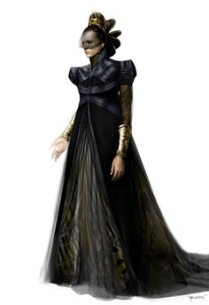 "Concept art of Lady Lara in Mourning Gown from ""Man of Steel"" (2013) by Phillip Boutte Jr."