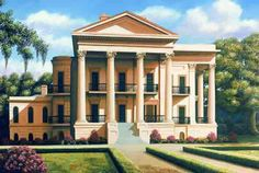 Mediterranean homes – Mediterranean Home Decor Old Mansions, Abandoned Mansions, Abandoned Houses, Abandoned Places, Old Houses, Abandoned Plantations, Greek Revival Architecture, Southern Architecture, Louisiana Plantations