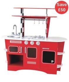 Toy Kitchens | Sizzlin' Kitchen & Children's Bosch Kitchen | ELC UK Toy Shop sale £100 - £50 off