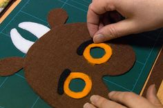 How to make a gruffalo mask for World Book Day - Step 7