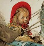 wow, this looks like me as a little girl! Carl Larsson, Swedish Christmas, Scandinavian Christmas, Carl Spitzweg, Swedish Style, Scandinavian Art, Large Painting, My Heritage, Portraits