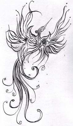 Phoenix/firebird tattoo