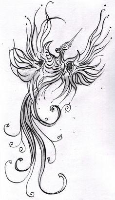 Phoenix/firebird tattoo