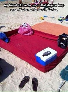 Fitted sheet to prevent sand from getting everywhere OR insects from crawling everywhere while camping