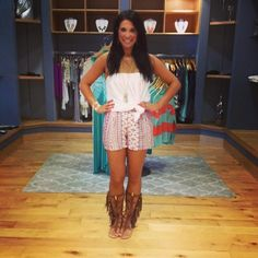 Cute outfit & fringe boots