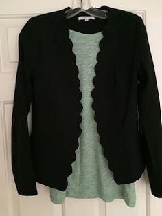 Love this blazer with the scalloped edges!