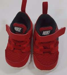 7862e131579c Nike Flex Experience 3 Boys Infant Baby Running Shoe Size 4C Red Style  653703600  Nike  RunningShoes