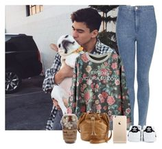 """Dog sitting with Calum"" by sychie ❤ liked on Polyvore featuring Topshop, adidas and HOBO"