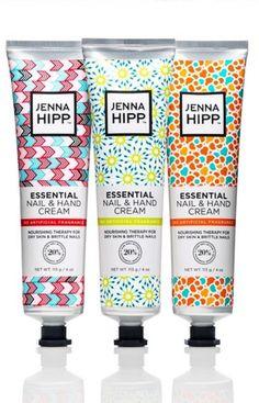 Jenna Hipp Hand and Nail Cream Packaging by Kasey Dasko