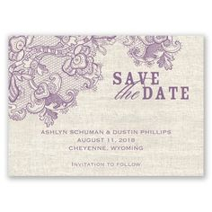 Lace Melody - Save the Date Magnet