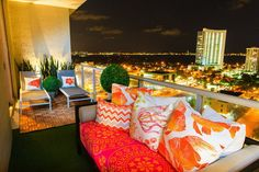 Awesome balcony with colorful design and a great view