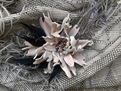 Handmade flower brooch Peony by GiftsGoods on Etsy
