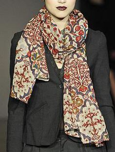 Noa Noa AW 13/14 - don't care how old it is, the scarf is awesome! And pretty timeless :)
