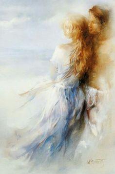 Romantic Impressionist painter :<3> Willem Haenraets (1940~) Netherlands.