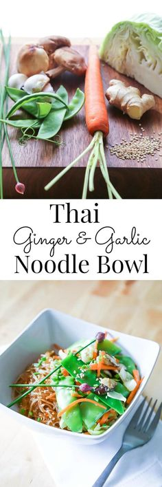 Hearty and nourishing, this Vegan Noodle Bowl is quick and easy | Vanilla And Bean