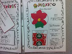 Christmas Around the World Scrapbook page for Mexico from First Grader...at Last! on her TpT store