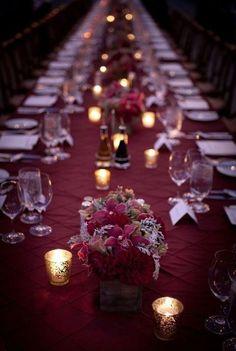 burgundy wedding decoratiuon