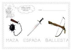 ESOS LOCOS BAJITOS DE INFANTIL: MAS FICHAS DEL PROYECTO LOS CASTILLOS Medieval Knight, Middle Ages, Hair Accessories, Knights, Classroom, School, Children, Castles, Draw