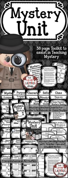 Mystery Unit   Mystery Unit   Mystery Unit  In this Mystery Unit you will find tools to assist you in teaching about the genre Mystery. I have gathered components to get you started on the Reading and Writing components of this Unit of Study.   ★★Included {38 pages}★★
