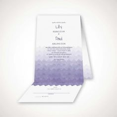 modern lace all in one card all in one place wedding invitation