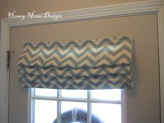 homey home design: Simple Chevron Curtains