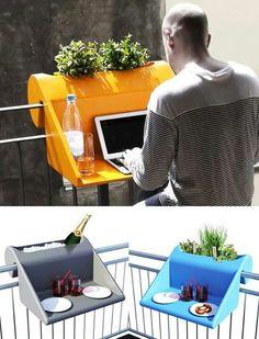 Great idea for a narrow balcony. More