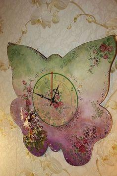 "Часы для дома ручной работы. Ярмарка Мастеров - ручная работа Часы ""Цветочница"". Handmade."