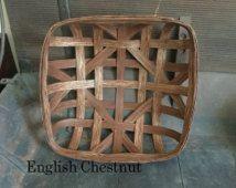 "15"" x 15"" Reproduction NC Style Tobacco Basket (Please read full description)"