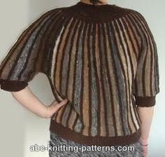 ABC Knitting Patterns - Striped One-Piece Noro Yarn Sweater.