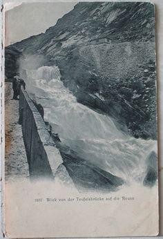 1905 Montagna n° 2437 Blik von der Teufelelsbrucke auf die Reuss Gerb. Wehrli, Kolehberg, Zurich cartolina senza francobollo