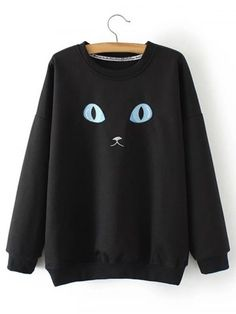 GET $50 NOW   Join RoseGal: Get YOUR $50 NOW!http://www.rosegal.com/plus-size-hoodies/plus-size-cat-embroidery-sweatshirt-870588.html?seid=7123053rg870588
