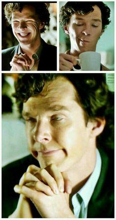 The many facial expressions of Sherlock Holmes.