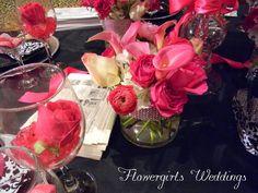 hot pink Flowergirls Weddings 58th & Lewis Tulsa, Ok 918-949-1553 www.flowergirlsoftulsa.com
