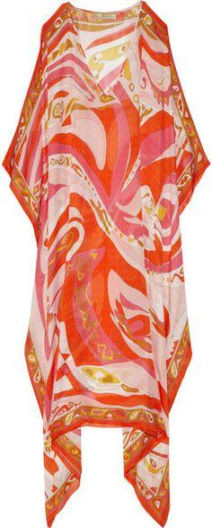 Aracaju Printed Silk Kaftan - Lyst