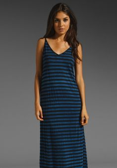 Michael Stars Color Block Stripe Maxi in Passport/Neptune.it's cold but my minds on Summer 2013, I love Maxi Dresses.