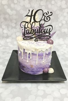 Custom Fortieth Birthday Cake By A Little Slice Of Heaven Bakery In Atlanta GA