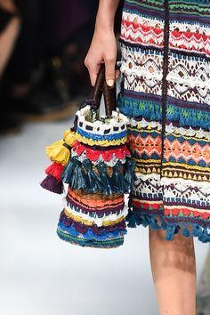 KEITA MARUYAMA, Tokyo SS 2016 - (Details) Crochet Bag