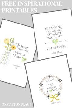 20 gorgeous free printables   favorite inspirational quotes - It's Always Autumn