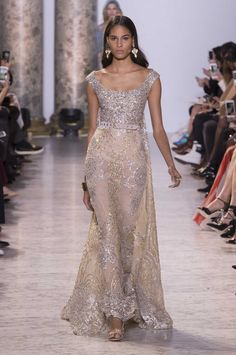 A look from the Elie Saab spring 2017 couture collection. Photo: Imaxtree.