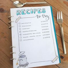 I made this page to collect and remember (!) new recipes I want to try . . #recipes #bujocolletion #bulletjournal #bujo #filofax #journaling #bujojunkie #bujoinspo #bujocommunity #planner #bujolove #bulletjournalgermany