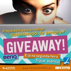 GIVEAWAY   8-)  Preparados para o melhor passatempo de sempre???  É já na segunda-feira fique atento!  #NovoAtalho #Passatempo #GiveaWay #FiqueAtento #2Feira