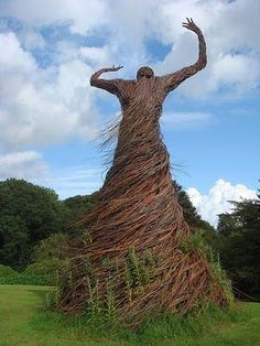 """""""Willow Lady"""" by Trevor Leat in Garden of National Museum of Costume near Dumfries."""